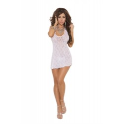 Lace Halter Dress - One Size - White