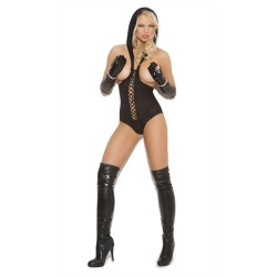 Hooded Teddy - One Size - Black