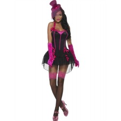 Fever Bow Burlesque Costume - Extra Small