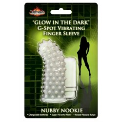 Glow in the Dark Vibrating Nubby Nookie  Finger Sleeve