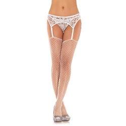 Lace Garterbelt and Thong - One Size - White