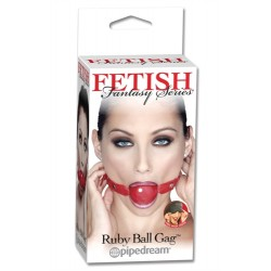 Fetish Fantasy Series Ruby Ball Gag - Red