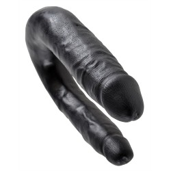 King Cock Small Double Trouble - Black