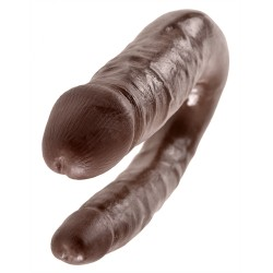 King Cock Small Double Trouble - Brown